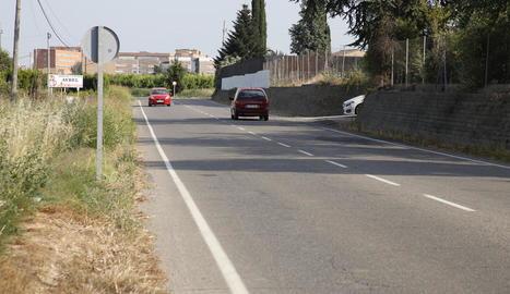 Imatge del Camí de Montcada, que arriba fins a l'accés a l'A-14.