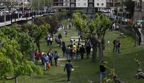 Imatge d'arxiu del parc del Riuet de Sort.