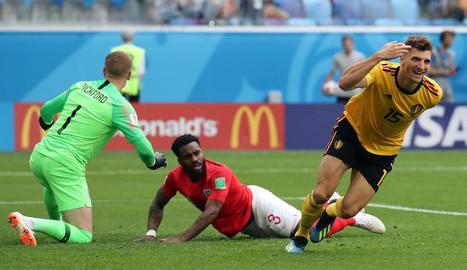 Thomas Meunier va marcar el primer gol del matx.