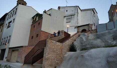 Fotografia del Mirador La Carnisseria, inaugurat ahir a Almenar.