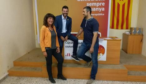 Teresa Jordà, Engelbert Montalà i Bernat Solé.
