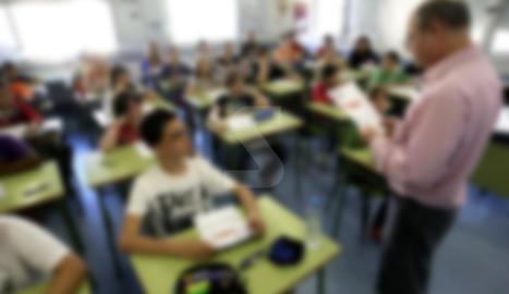 Imatge d'arxiu retocada d'una classe de Lleida