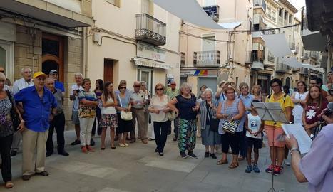 La poesia de Jordi Pàmias torna a prendre els carrers de Guissona