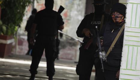 Imatge de forces policials de Nicaragua a Managua.