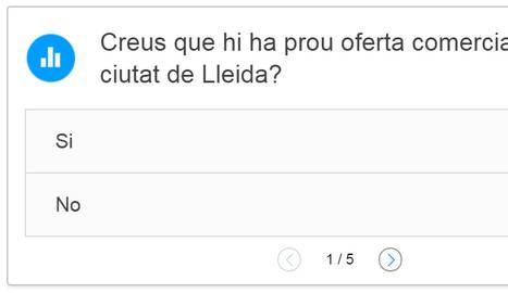 ENQUESTA. Creus que hi ha prou oferta comercial a Lleida?