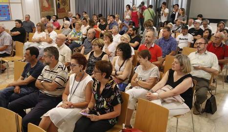 Un moment de la presentació del pla, a la qual va assistir públic del sector cultural de la ciutat.