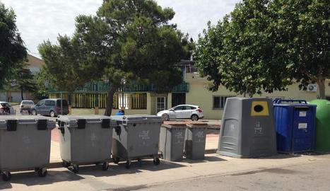 Alguns dels contenidors nous instal·lats a la Noguera.