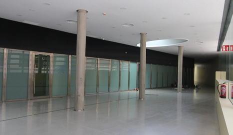 Interior de l'ampliació de l'edifici judicial, que acollirà les noves sales de vistes.