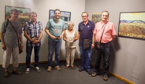 Imatge de la inauguració de la mostra divendres passat.