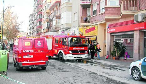 Imatge d'arxiu d'una actuació dels bombers a Fraga.