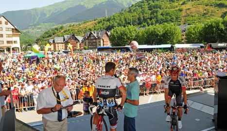 La sortida d'etapa a Vielha el 2016 va motivar una gran expectació de públic.