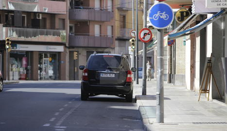Carril bici com a pàrquing