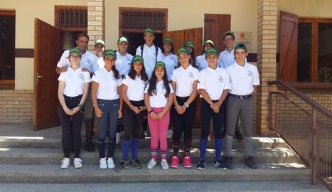 Albert Hermoso, amb els alumnes del campus.