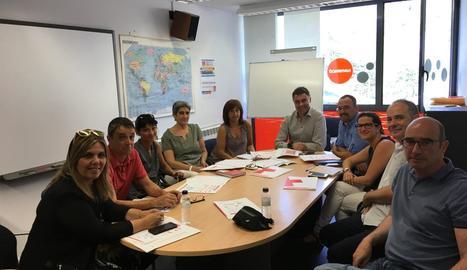 Un moment de la reunió de coordinació celebrada ahir.
