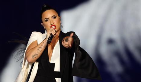 Demi Lovato, durant una actuació.