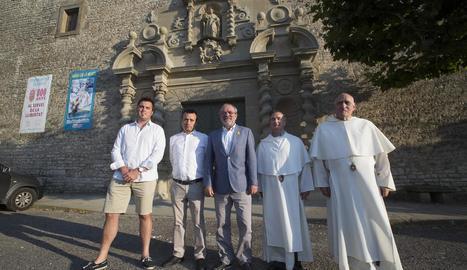 Reñé, durant la seua visita ahir a Sant Ramon.