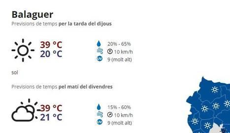 Alerta per calor en set comarques de Lleida