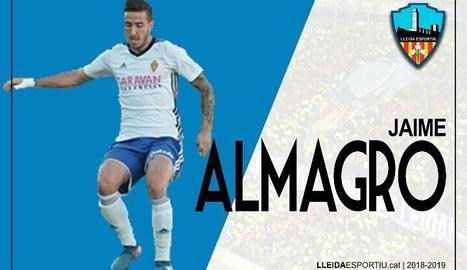 El Lleida incorpora Jaime Almagro en qualitat de cedit