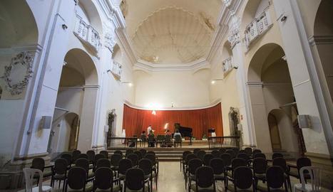 Imatge de l'interior de l'Auditori de Cervera.