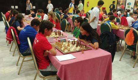 Vinyet Palau va participar en el Campionat d'Espanya sub-14.