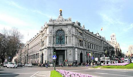 Imatge de l'edifici que acull el Banc d'Espanya a Madrid.