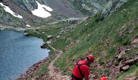Rescat a Alins d'una excursionista