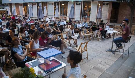 Jordi Duran va presentar FiraTàrrega als veïns de la ciutat.