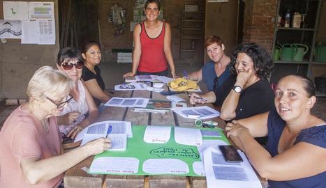 Un moment del taller que es va organitzar ahir a Tàrrega.