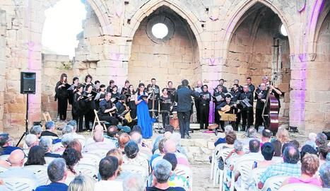 Un moment del concert que va tenir lloc dissabte a Vallsanta.