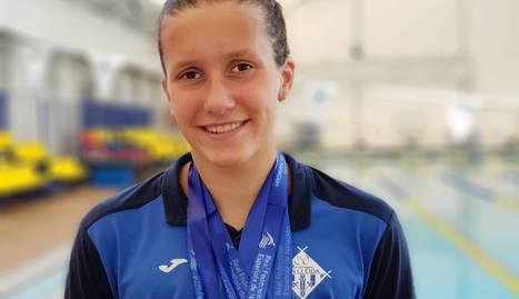 Paula Juste, amb les quatre medalles que ha aconseguit a l'Estatal.