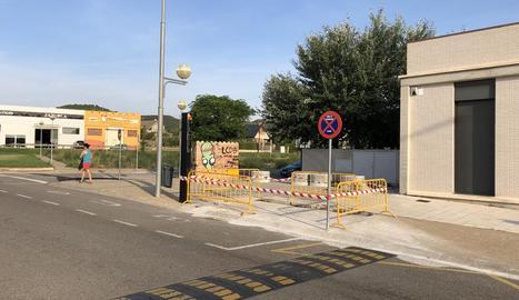 La zona dels jutjats de Fraga.