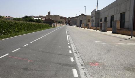Vistes del lloc on va tenir lloc el succés, al camí de Térmens.