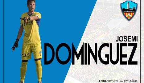 El Lleida fitxa el porter Josemi Domínguez