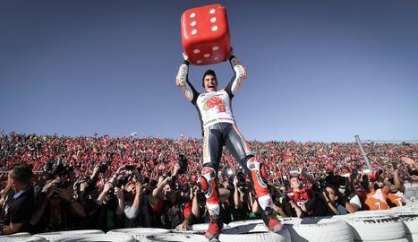 Marc Màrquez, guanyador de sis Mundials, arribarà al centenar de carreres a la categoria reina diumenge al traçat de Brno.