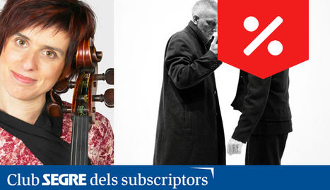 La violoncelista Amparo Lacruz i el duo Mal Pelo.