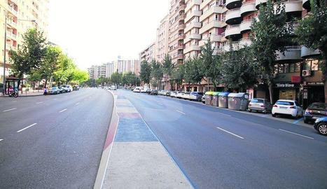 Imatge del passeig de Ronda de Lleida