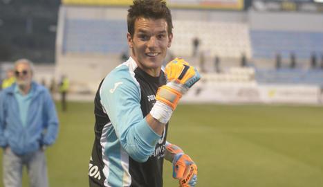 Pau Torres, en una imatge de la seua primera etapa al Lleida Esportiu, on va estar tres temporades.