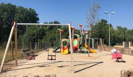 El parc infantil del Camp del Molí, a Solsona.