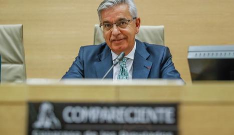 Manuel Sánchez Corbí, en una compareixença en el Congrés.