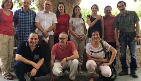 Imatge de la delegació mexicana que va visitar ahir Lleida