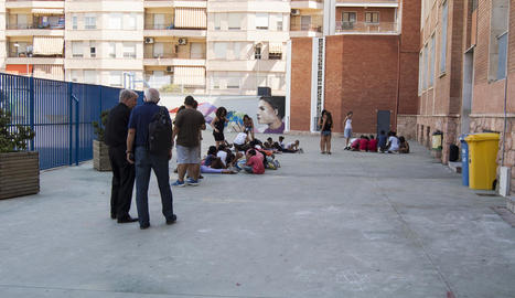 Visita ahir als nens i nenes que participen en les activitats d'estiu de la Fundació Verge Blanca.