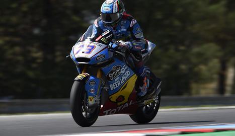 Marc Màrquez ahir durant la primera jornada d'entrenaments lliures al circuit de Brno.