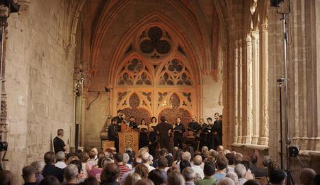 Actuació del conjunt O vos Omnes ahir a Vallfogona.