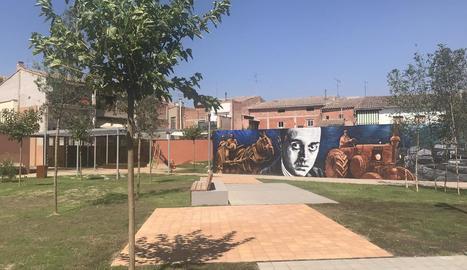 El nou parc al centre urbà de Juneda.