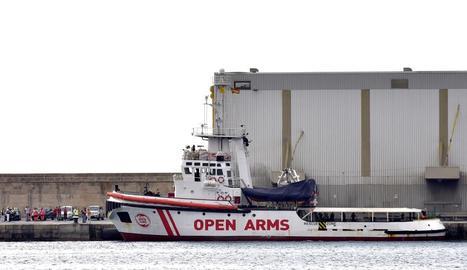 Un dels vaixells de l'organització Open Arms.