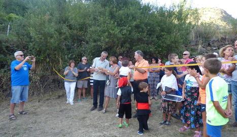 La inauguració de la zona de lleure de Cerbi, a la Guingueta.