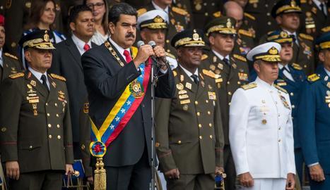 Maduro en el moment en què encapçalava un acte a Caracas.