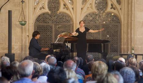 Actuació del pianista Jordi Domènech i la soprano Anna Moliner.