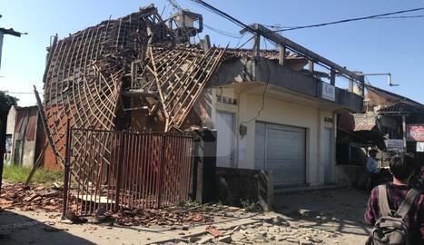 Jordi Valero va capturar amb la seua càmera els efectes del terratrèmol.