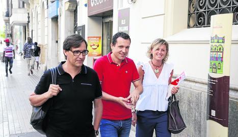 Salvador Illa es va reunir ahir primer amb Montse Mínguez.